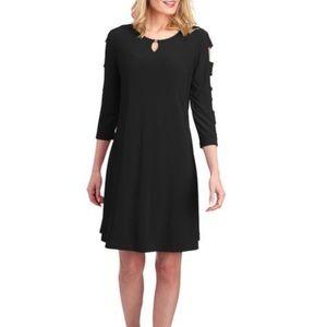 NWOT [AK by Anne Klein] Cut Out Sleeve Dress